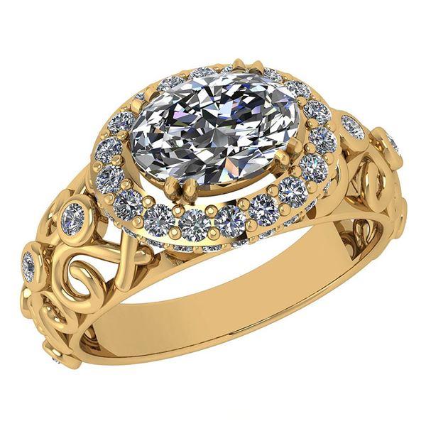 Certified 1.65 Ctw Diamond Wedding/Engagement 14K Yello