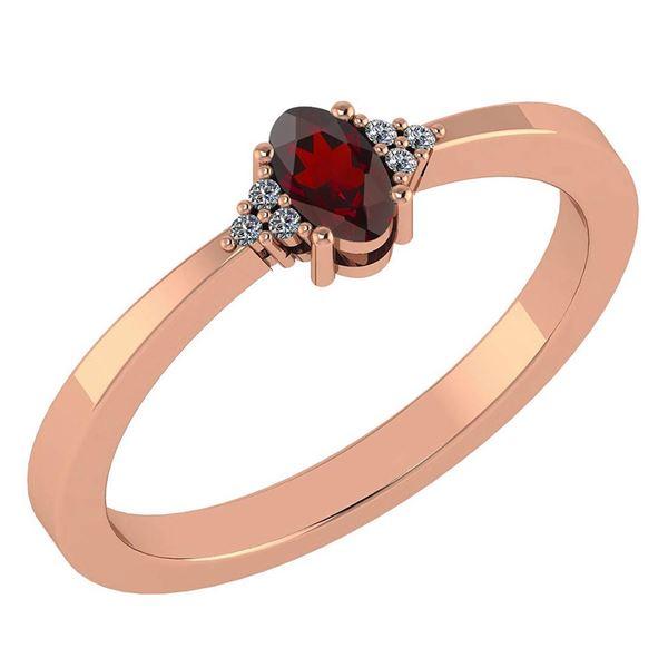 Certified 0.24 CTW Garnet And Diamond 14k Rose Gold Hal