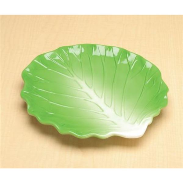LG. GREEN CABBAGE PLATE