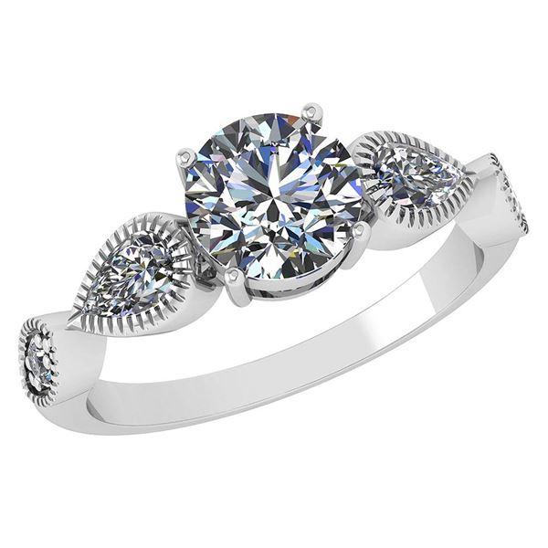 Certified 1.81 Ctw Diamond Wedding/Engagement Style 14K