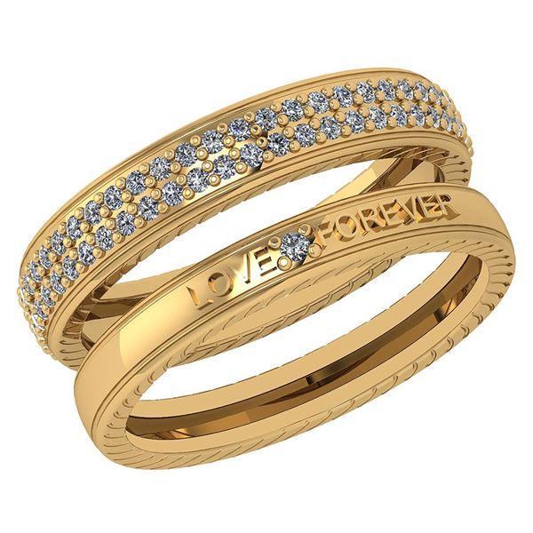 Certified 1.00 Ctw Diamond Wedding/Engagement 14K Yello