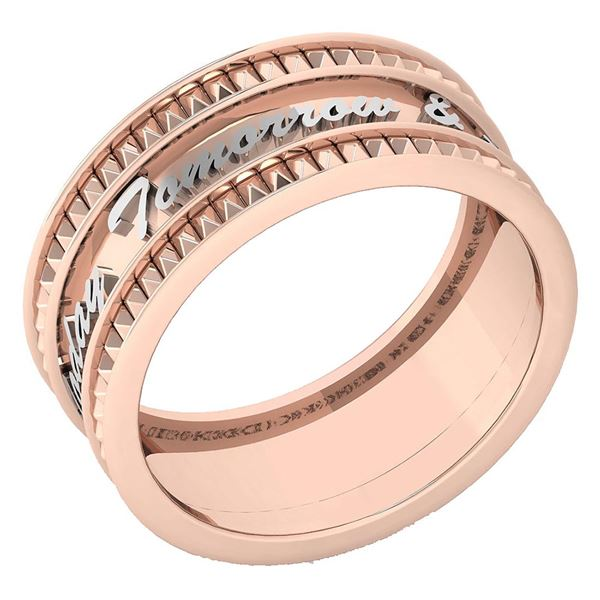 18K Rose Gold A Unique Promise Band With Engraving Bein