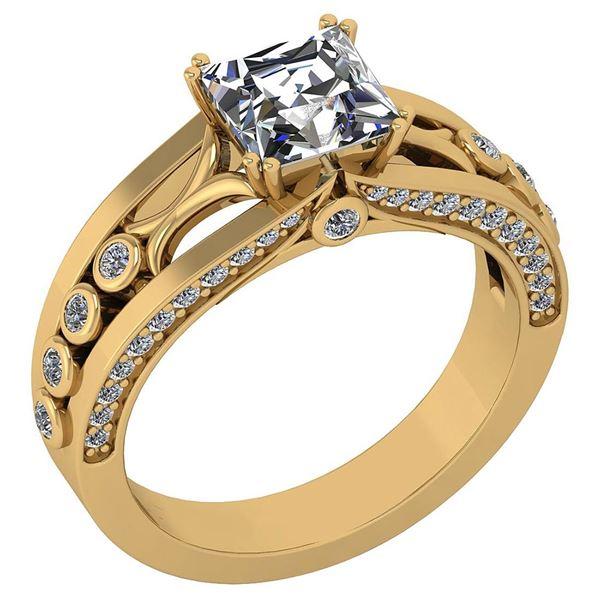 Certified 1.53 Ctw Diamond Wedding/Engagement Style 18K
