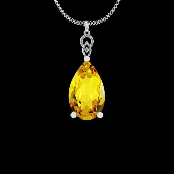 Certified 31.85 Ctw I2/I3 Lemon Topaz And Diamond 10K W