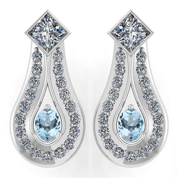 Certified 1.23 Ctw Aquamarine Diamond Wedding/Engagemen