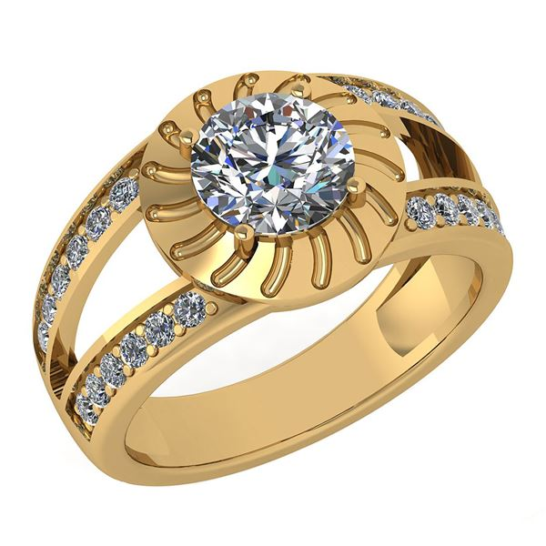 Certified 1.58 Ctw Diamond Wedding/Engagement Style 14K