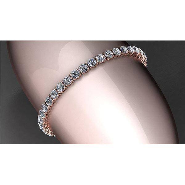 Certified 4.00 Ctw Diamond VS2/SI1 Tennis Bracelet 14K