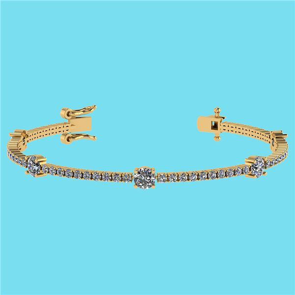Certified 2.10 Ctw SI2/I1 Diamond 14K Yellow Gold Brace