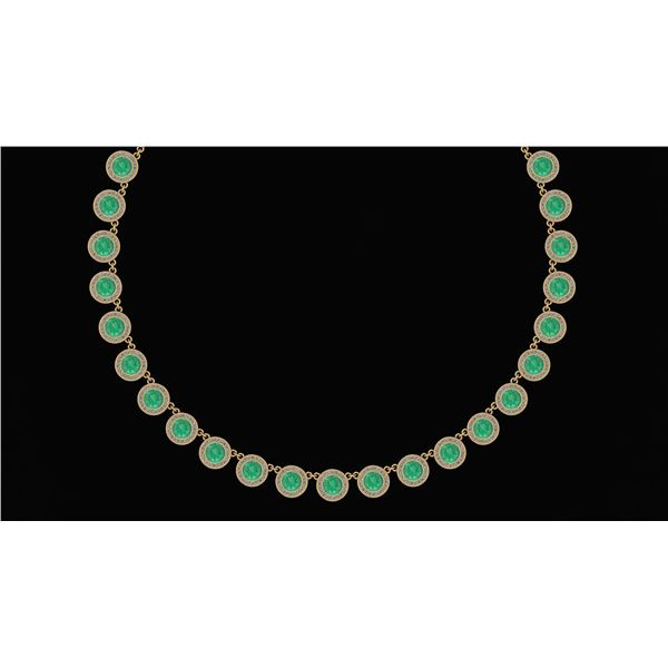 Certified 32.61 Ctw Emerald And Diamond VS/SI1 Beautifu