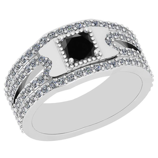 Certified 1.96 Ctw I2/I3 Treated Fancy Black And White
