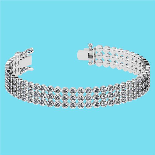 Certified 5.13 Ctw SI2/I1 Diamond 14K White Gold Bracel