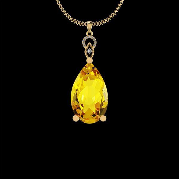 Certified 31.85 Ctw I2/I3 Lemon Topaz And Diamond 10K Y