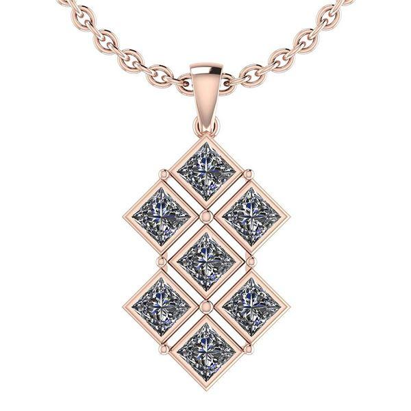Certified 2.73 Ctw Diamond I1/I2 Bezel Style Set Pendan
