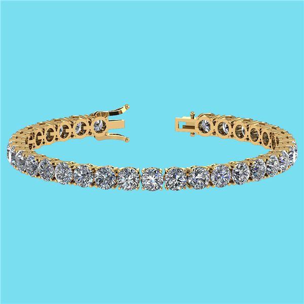 Certified 14.85 Ctw SI1/I2 Diamond Ladies Fashion 18K Y