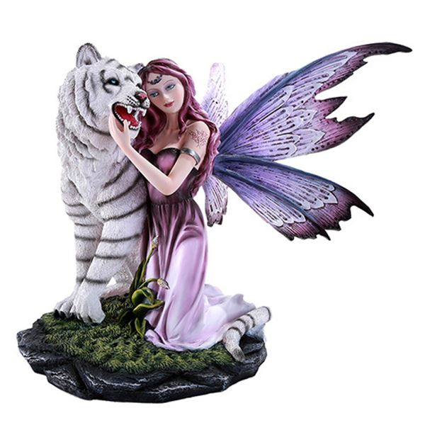 FAIRY WITH WHITE TIGER