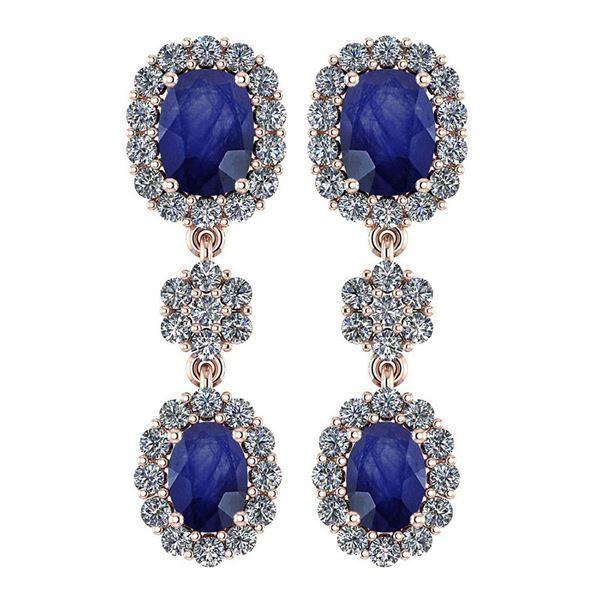 Certified 10.48 Ctw Blue Sapphire And Diamond VS/SI1 Ha