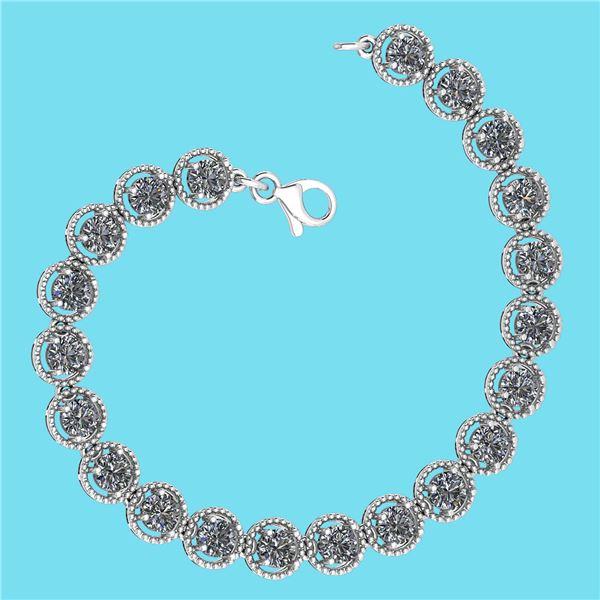 Certified 5.25 Ctw SI1/I2 Diamond Ladies Fashion 18K Wh