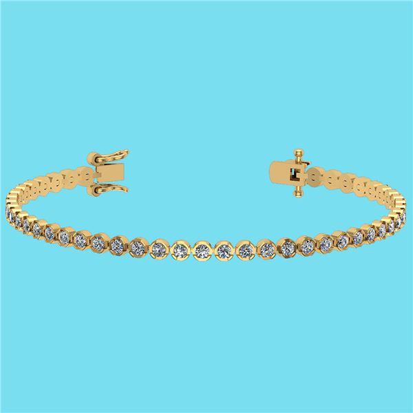 Certified 2.60 Ctw SI2/I1 Diamond 14K Yellow Gold Brace