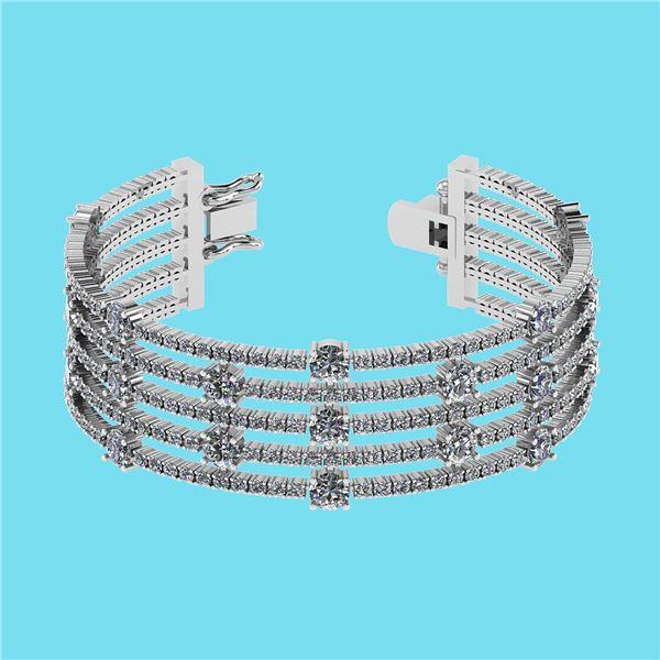 Certified 20.06 Ctw SI2/I1 Diamond 14K White Gold Brace
