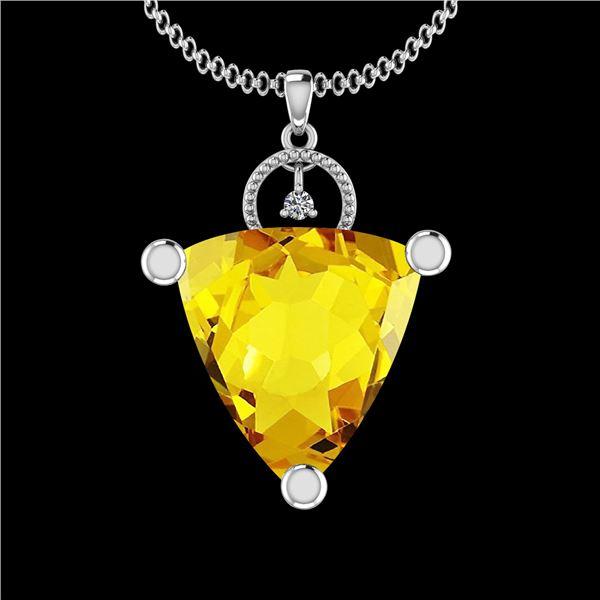 Certified 31.84 Ctw I2/I3 Lemon Topaz And Diamond 10K W
