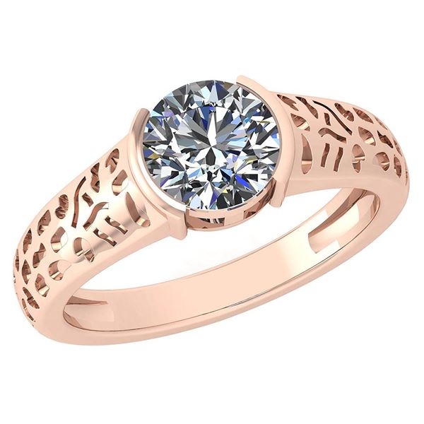 Certified 1.25 Ctw Diamond Halo Ring For Engagement New