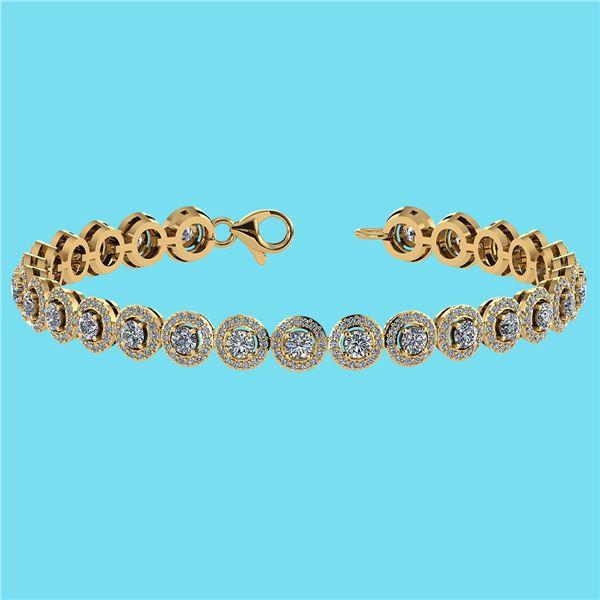Certified 4.59 Ctw SI1/I2 Diamond 18K Yellow Gold Brace