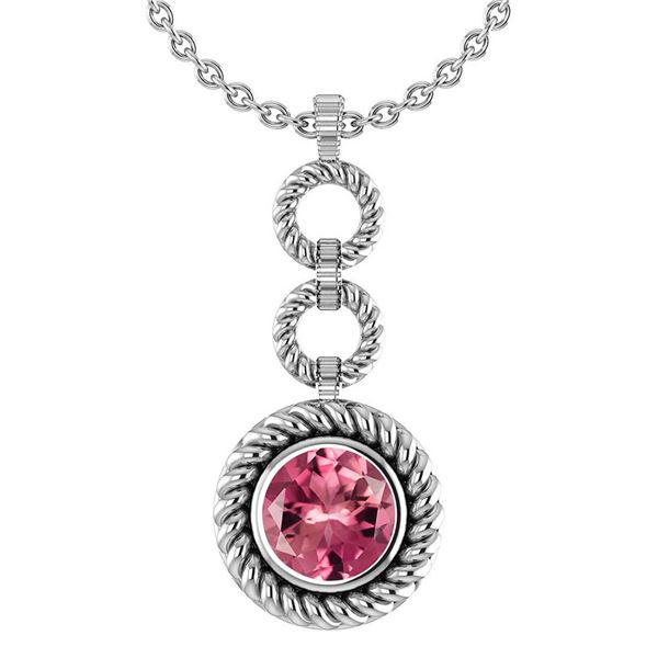 Certified 6.84 Ctw Pink Tourmaline Necklace For womens
