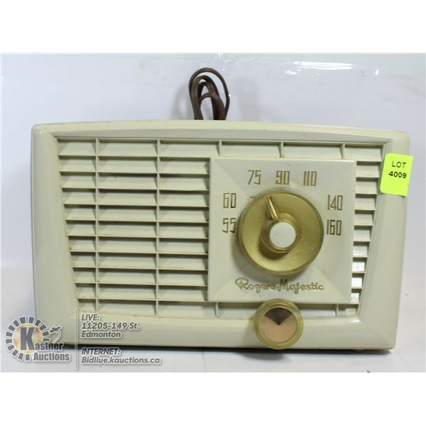 VINTAGE ROGERS MAJESTIC RADIO- MODEL # R552