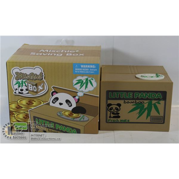 MISCHIEF PANDA BANK PEEKS OUT AND TAKES YOUR