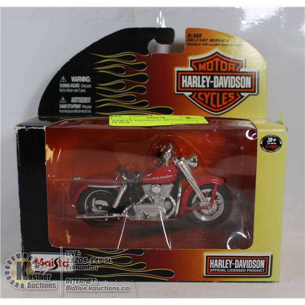HARLEY DAVIDSON MOTORCYCLE IN BOX