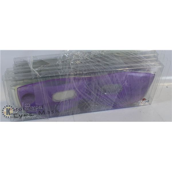 5 PACK OF HOT/COLD EYE MASKS.  (GENTLY SNAP