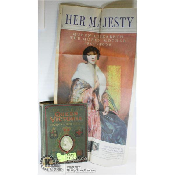 THE LIFE OF QUEEN VICTORIA ANTIQUE 1901 BOOK RARE/