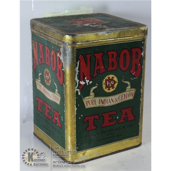 VINTAGE NABOB INDIAN TEA CANISTER RARE