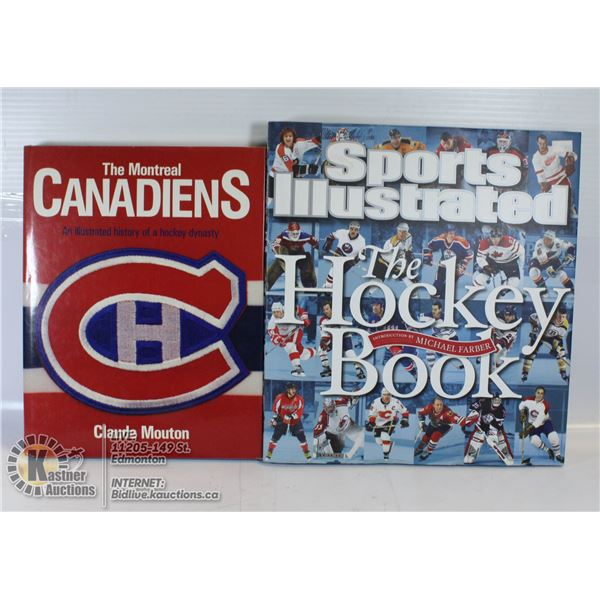 2 HARD COVER BOOKS (MONTREAL CANADIN HISTORY AND