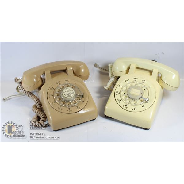 VINTAGE ROTARY DIAL PHONES - LOT OF 2