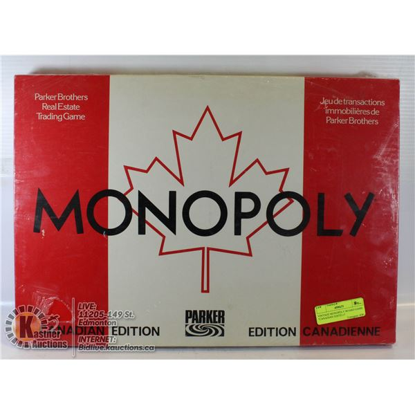 """VINTAGE MONOPOLY BOARD GAME- """"CANADIAN EDITION"""""""