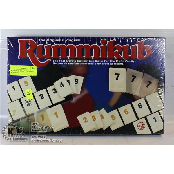 RUMMIKUB- RUMMY TILE GAME- NEW IN BOX