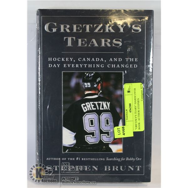 """""""GRETZKY'S TEARS"""" HARDCOVER BOOK- AUTHOR STEPHEN"""