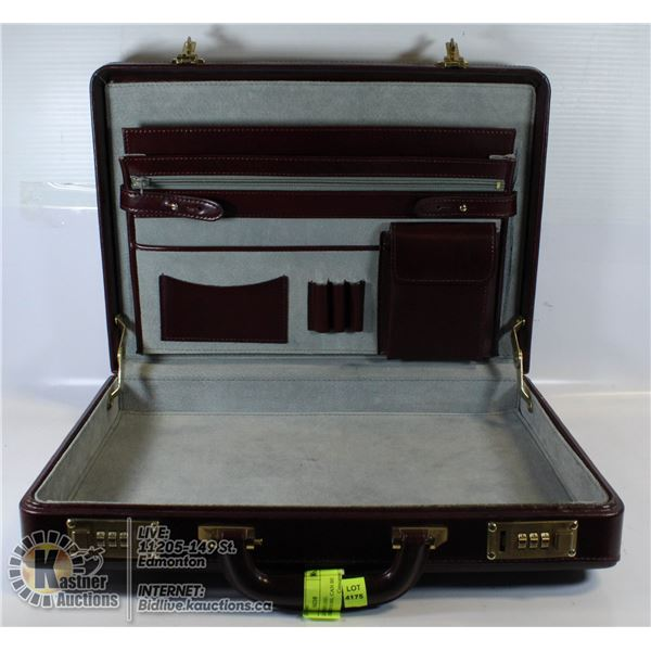 LEATHER BRIEFCASE- COMBINATION IS 000, CAN BE