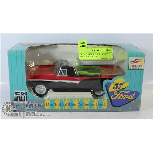 DIECAST METAL BANK- LIBERTY 1957 FORD LIMITED