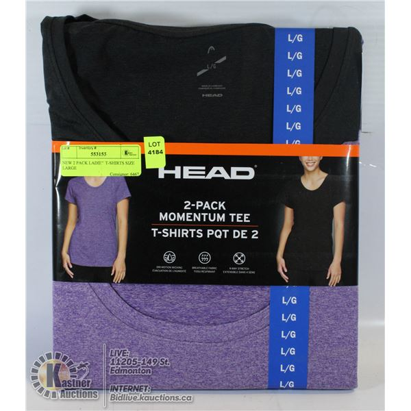 NEW 2 PACK LADIES T-SHIRTS SIZE LARGE