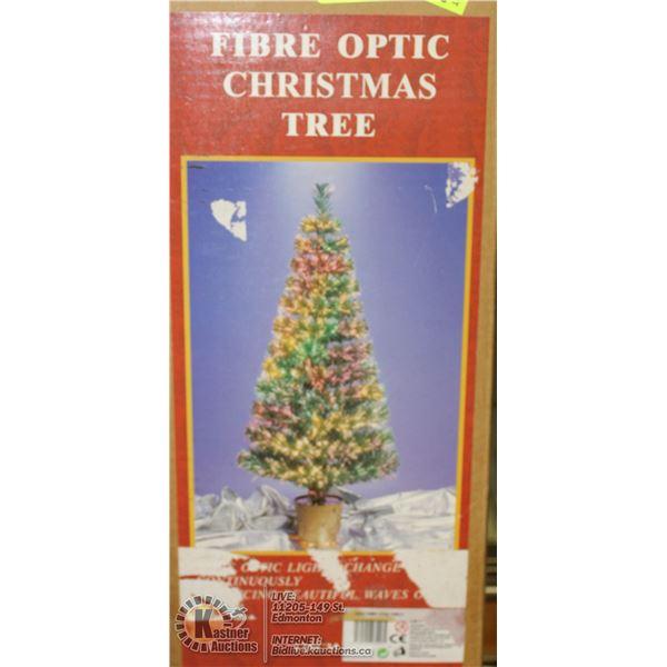 FIBRE OPTIC CHRISTMAS TREE- 4' TALL- IN BOX