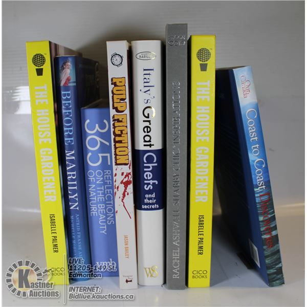 LOT OF ASSORTED HARDCOVER BOOKS