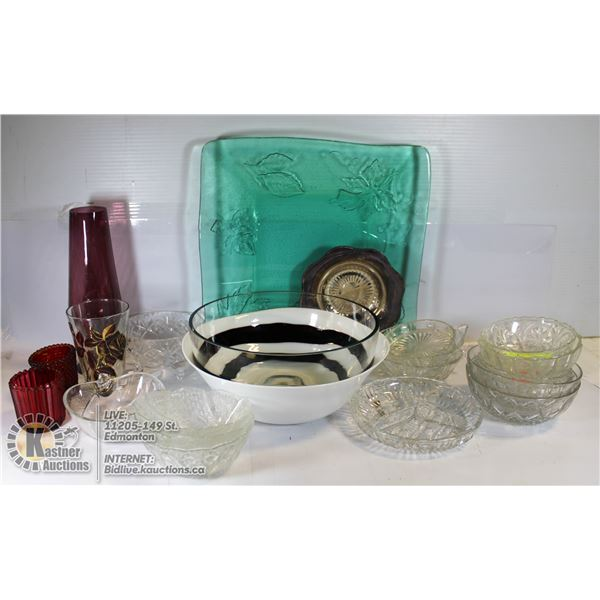LARGE SERVING BOWLS/TRAY DESSERT DISHES + MORE