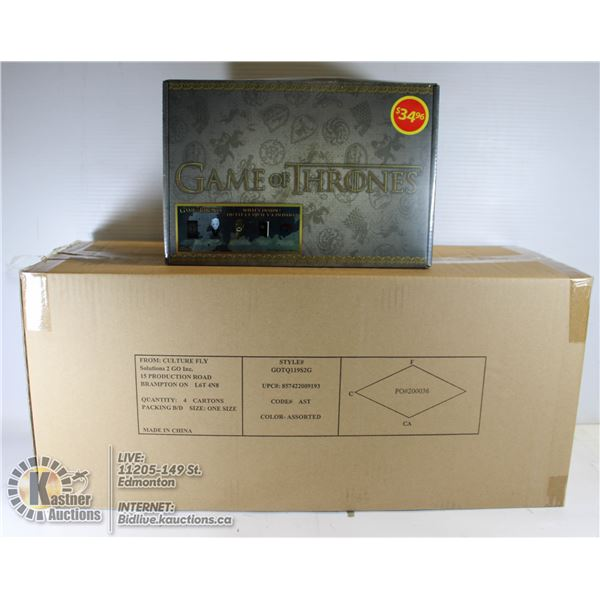 CASE OF 4 GAME OF THRONES COLLECTIBLE MYSTERY