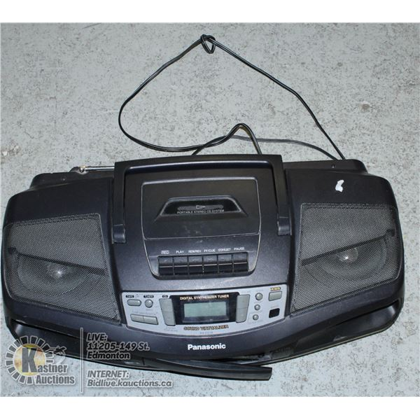 VINTAGE PANASONIC RX-DS18 PORTABLE TAPE DECK & CD
