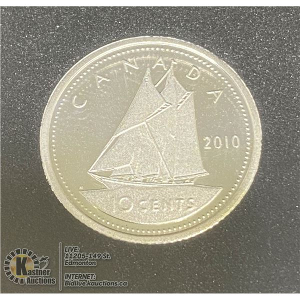 2010 STERLING SILVER PROOF 10 CENT