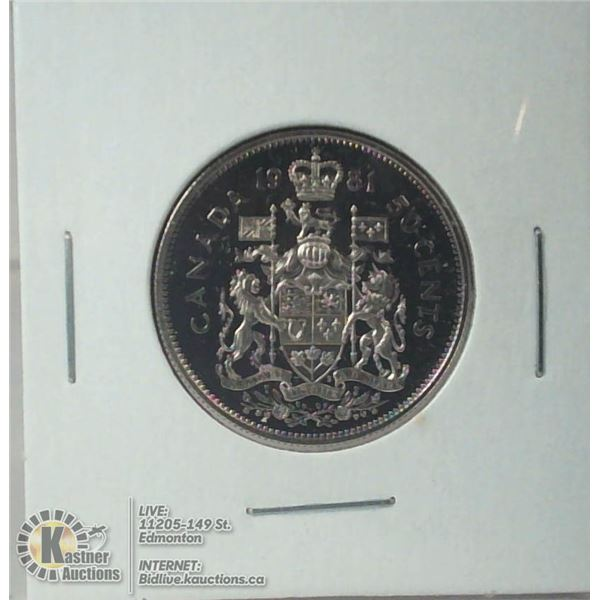 1981 PROOF CANADA 50 CENT COIN