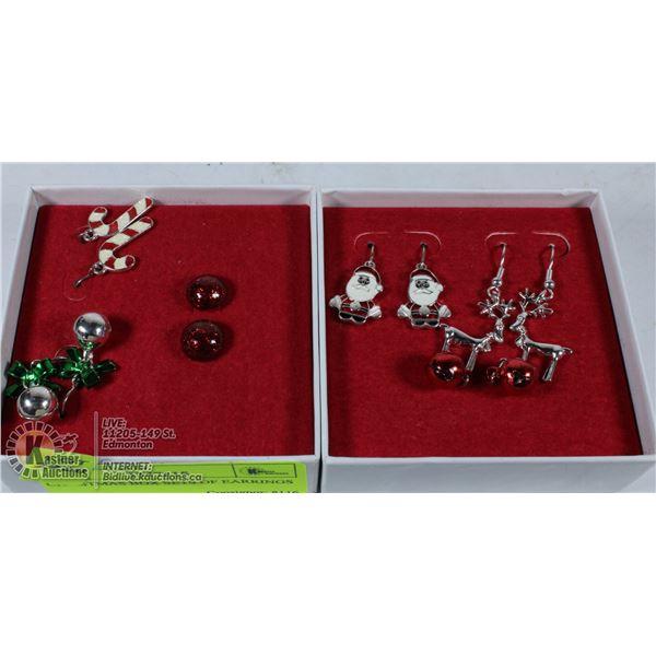CHRISTMAS BOX SETS OF EARRINGS