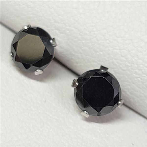 MZ7-25 10K  BLACKMOISSANITE EARRINGS
